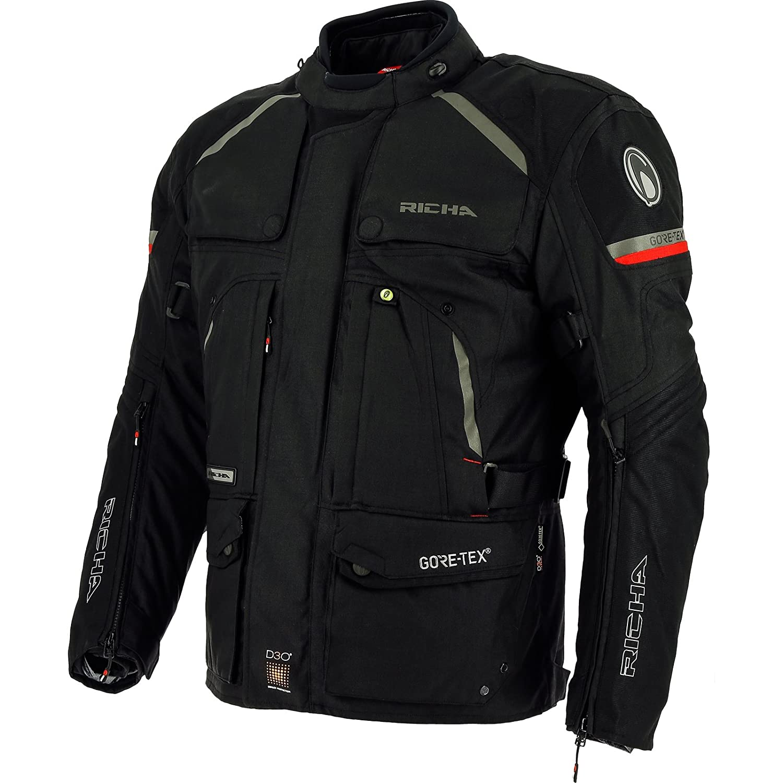 2ATA100-M - Richa Atacama GTX Motorcycle Jacket M Black: Amazon.es ...