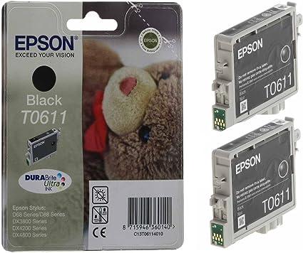 Epson Original T0611 Tintenpatronen Schwarz In Computer Zubehör