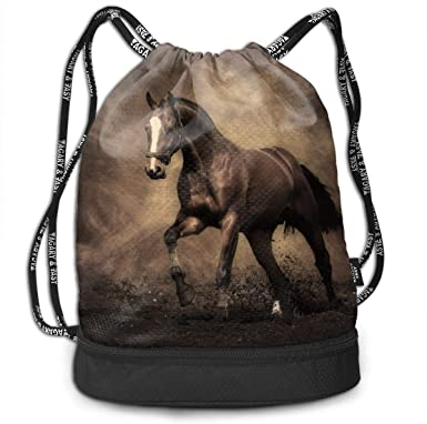 Drawstring Backpack Wild Horses Gym Bag