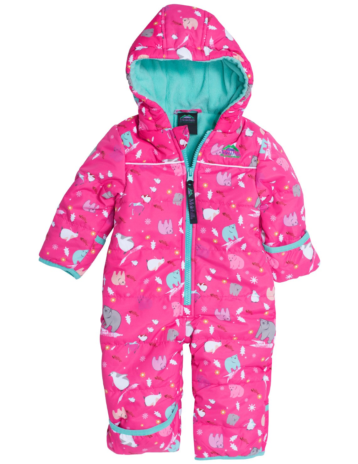 Molehill Bunting Suit, Frosty Pink, 9 Months by Molehill Mountain