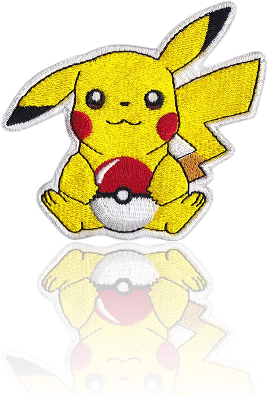 Hats Denim Jackets Bags Pikachu Pokeball Patch I Choose You Iron on /& Sew on Embroidered Applique Decoration DIY Craft for Tshirts