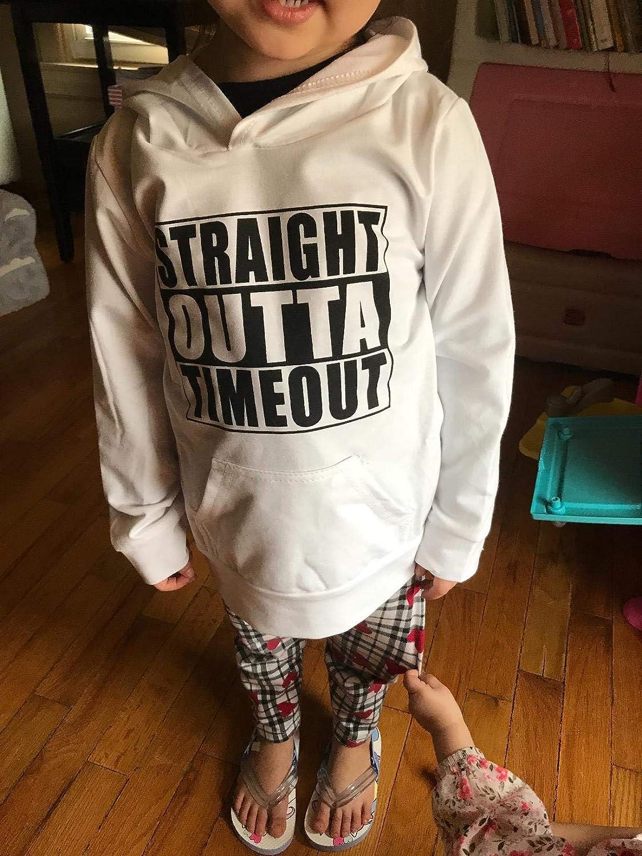 Toddler Baby Long Sleeve Hooded Sweatshirt Pocket Pullover Hoodies for Boys Girls