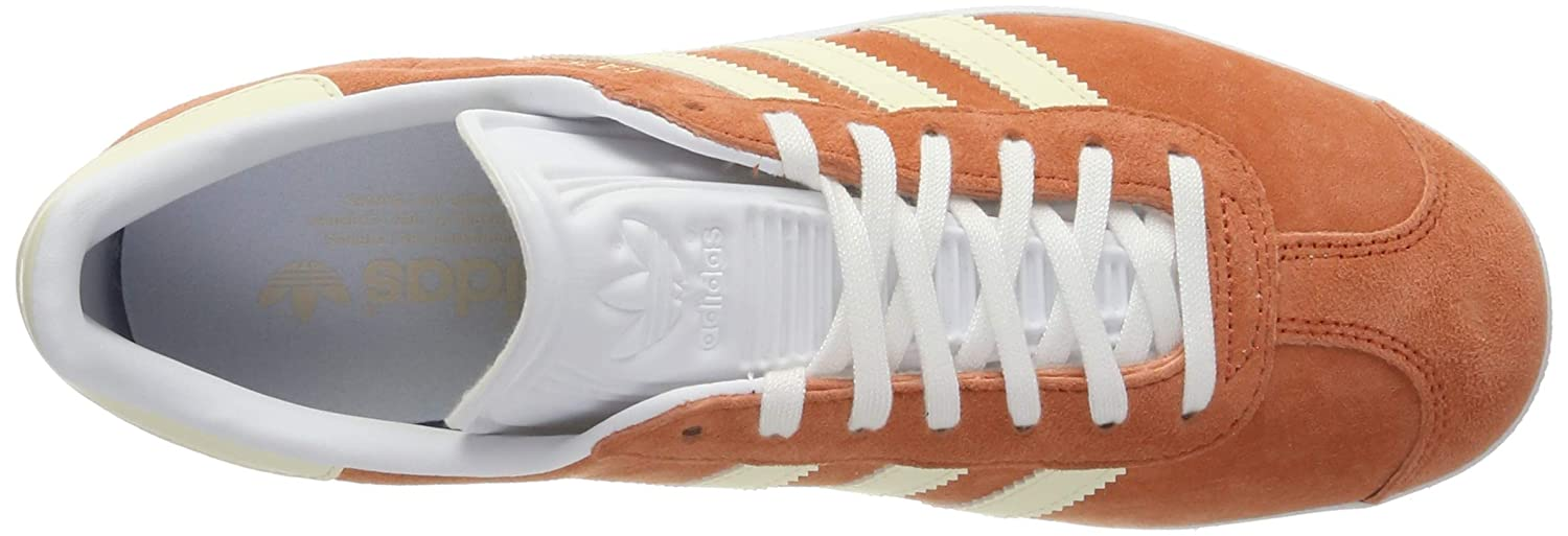 adidas Damen Gazelle W Gymnastikschuhe, gris argentÃ/Marron Clair/beige, EU Orange (Rawamb/E Cr Tin/Ftwwht )