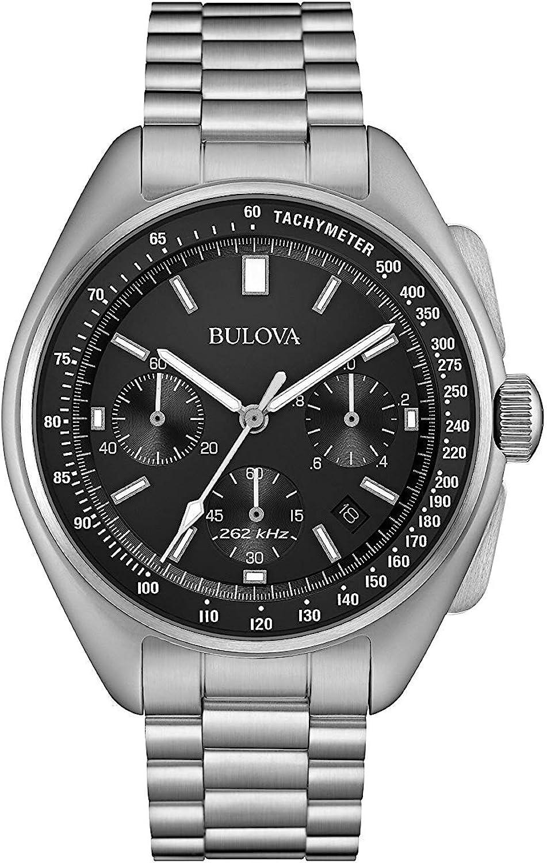 Bulova Reloj Analógico para Hombre de Cuarzo con Correa en Acero Inoxidable 96B258