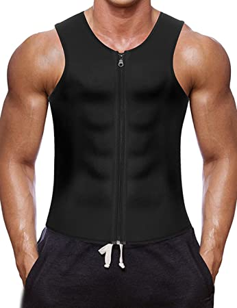 9d0b11026f HEYME Men s Slimming Vest Sauna Suits Gym Shirt Body Shaper for Body  Shaping Neoprene 4XL