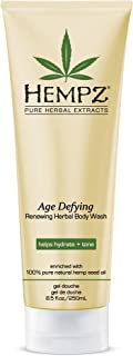 product image for Hempz Age Defying Renewing Herbal Body Wash, 8.5 oz., with Shea Butter, Ginseng - Anti-Aging, Fragranced Shower Gel with Pure Hemp Seed Oil, Algae for Sensitive Skin - Premium Personal Care Products