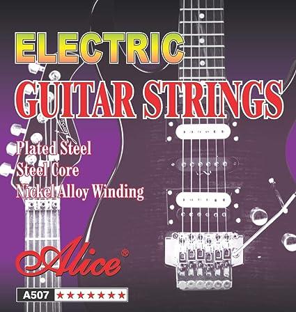 Alice A507-SL - Cuerdas para guitarra eléctrica, 6 cuerdas, súper ...