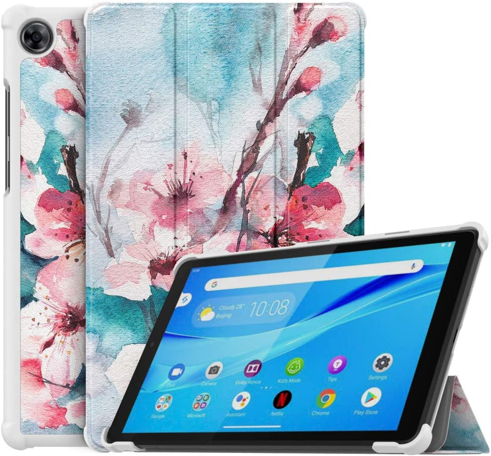 MoKo Case Compatible with Lenovo Tab M8 (TB-8505F), Slim Lightweight Smart Shell Stand Cover Case Fit Lenovo Tab M8 (TB-8505F), Not fit Lenovo Smart Tab M8 or Other Models - Peach Blossom