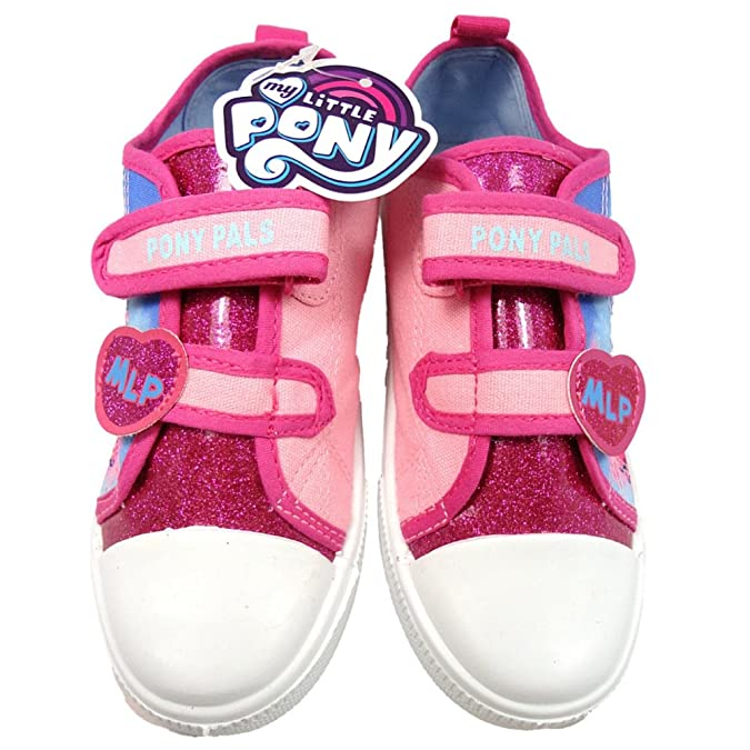 a179033c9c94 William Lamb Girls MLP My Little Pony Pink Glitter Hook and Loop Trainers  UK Size 6: Amazon.ca: Shoes & Handbags