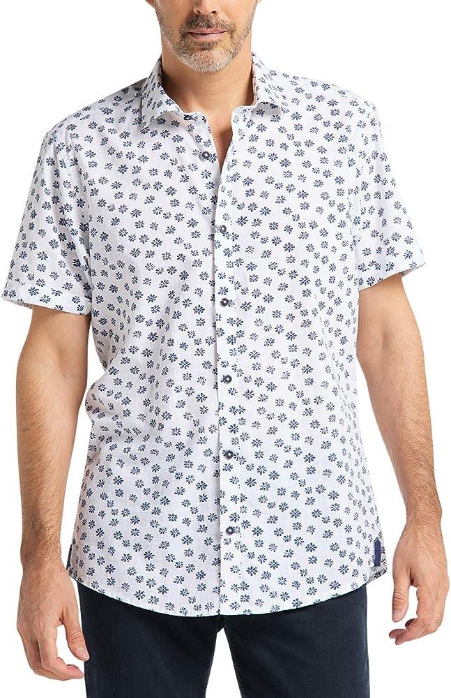 Pioneer Shirt All Over Print Camisa, Blanco (White 10), 39 (Talla del Fabricante: Small) para Hombre: Amazon.es: Ropa y accesorios