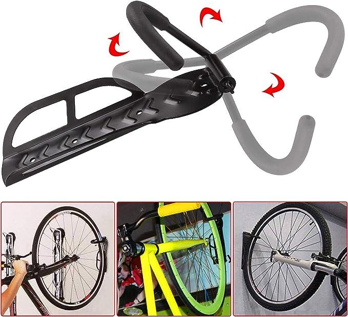 Lixada Soporte para Bicicletas Pared Colgador para Bicicletas Pared Almacenamiento de Bicicletas Bastidor para Bicicleta