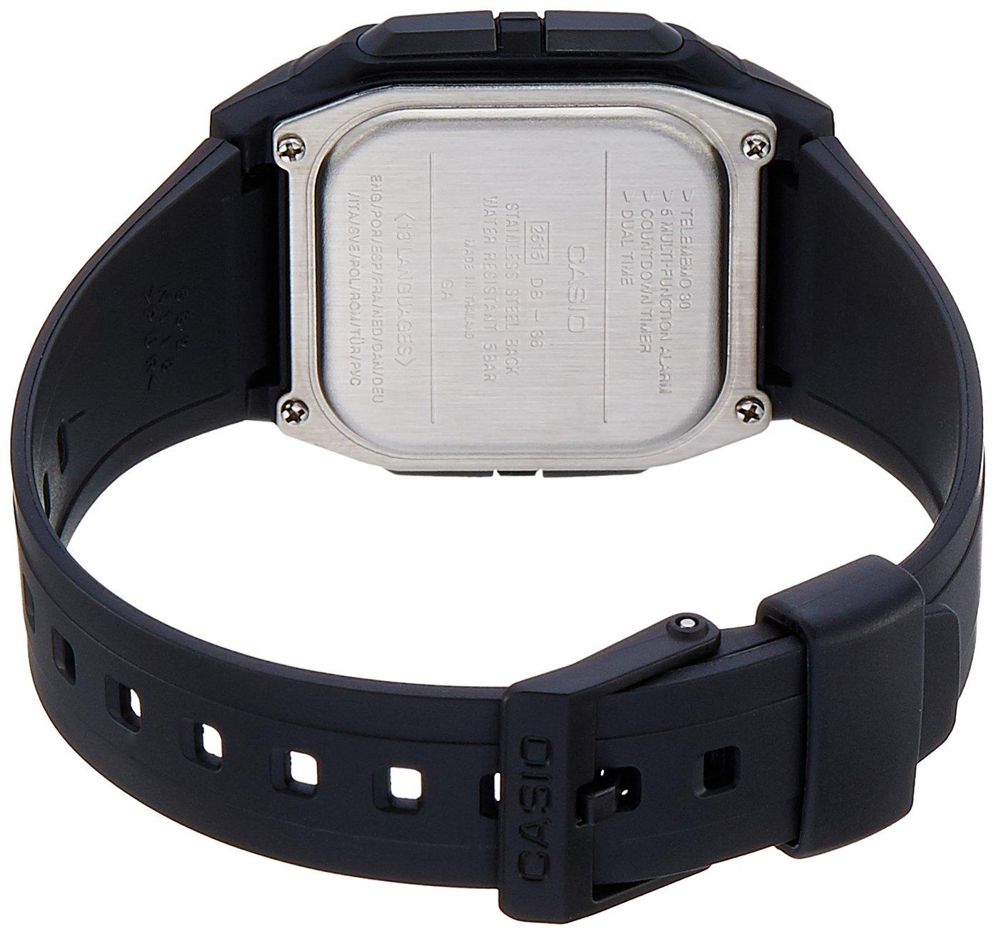acb582496 Relógio Masculino Digital Casio Data Bank DB-36-1AV - Preto  Amazon.com.br   Amazon Moda