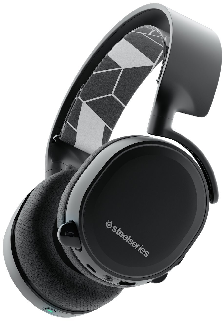 SteelSeries Arctis 3- Bluetooth, Auriculares para juego, Inalámbrico, para las plataformas, PC, Mac, PlayStation 4, Xbox One , Nintendo Switch, Android,iOS ,VR, color Negro