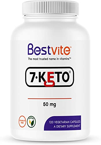 7-Keto 50 mg DHEA 120 Vegetarian Capsules – No Stearates