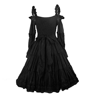 d5a938feb71c3 Maggie Tang Women's 1950s Vintage Rockabilly Prom Dress Size M Color Black  at Amazon Women's Clothing store: