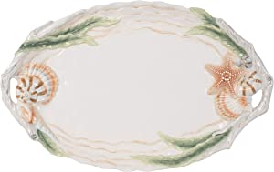 Fitz and Floyd Newport Home Serving Platter, 19-Inch, Assorted