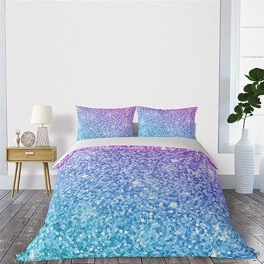 Amazon.com: SHINICHISTAR Blue and Purple Pastel Colors Duvet Cover