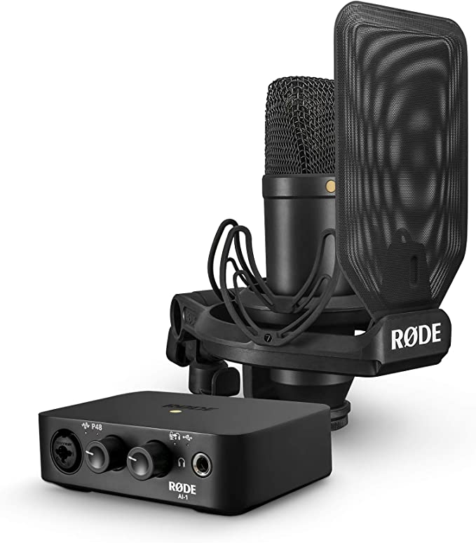 RØDE NT1/AI1KIT NT1 Condenser Microphone & AI-1 USB Audio Interface Pack: Amazon.com.au: Musical Instruments