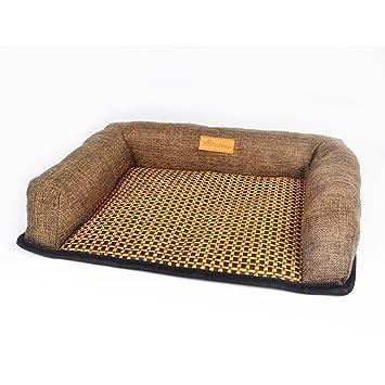 DSAQAO Cama del Perro Cuadrado, Portátil Pet Supplies Almohada Nido Mat Cesta para Mascotas Nido para Mascotas Cama para Perros-Café Grande: Amazon.es: ...