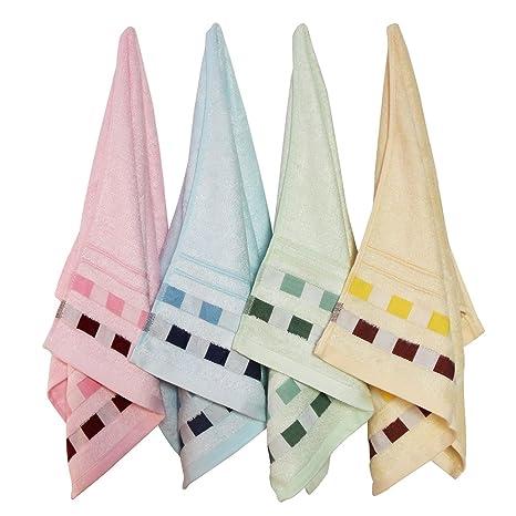 4 piezas Juego de toallas, antibacteriano resistente guante de baño mano de fibra de bambú