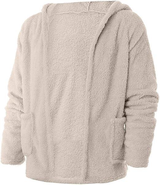 Womens Long Sleeve Hoodies Faux Fleece Sweatshirt Warm Shape Fuzzy Hoodie Pullover Cute Sweater Overcoat WEI MOLO