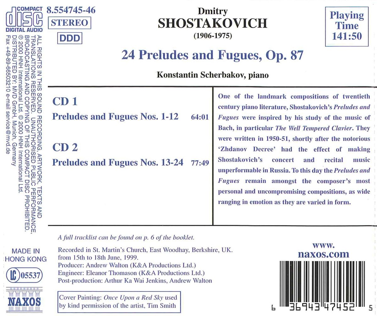 Shostakovich: 24 Preludes and Fugues, Op. 87 by Naxos