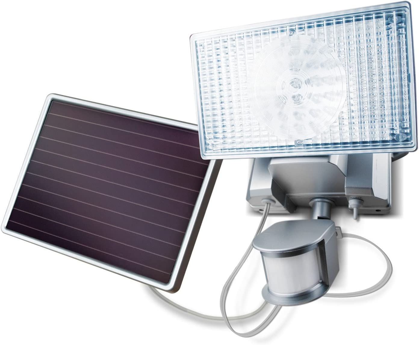 Silver Solar-Powered Motion-Activated 150 Max 67% OFF Colorado Springs Mall LED Security Floodligh