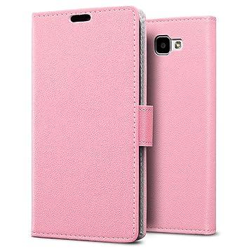Funda LG K4,SLEO Cartera Carcasa Piel PU Suave Flip Folio Caja Super Delgado [Estilo Libro,Soporte Plegable y Cierre Magnético] para LG K4 - Rosa