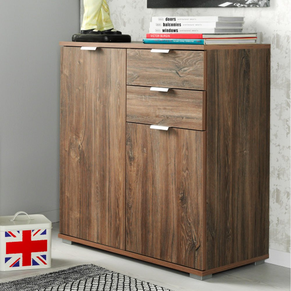 kommode sideboard highboard anrichte standschrank p82 typ 120 stirling eiche product image