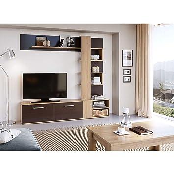 Mueble de Salon Moderno, Subida A Domicilio, Color Wengue y ...