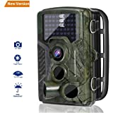 Wildlife Camera, LESHP Trail Hunting Game Camera No Glow 16MP 1080P Motion Activated w/ 120°Infrared Night Version, 2.4'' LCD Display, IP56 Waterproof Design for Animal/Event Observation Surveillance