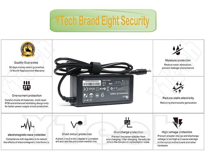 Amazon.com: ytech 65 W AC adaptador de corriente/cargador de ...