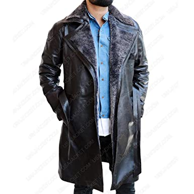 dbebae1feaff Blade Ryan Runner 2049 Gosling Trench Coat - Officer K 2 Black Real Leather  Jacket (