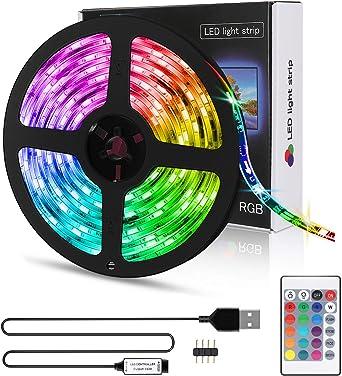 3m RGB LED Streifen Stripe Leiste Streifen Band Licht Leuchte Lichterkette 5V DE