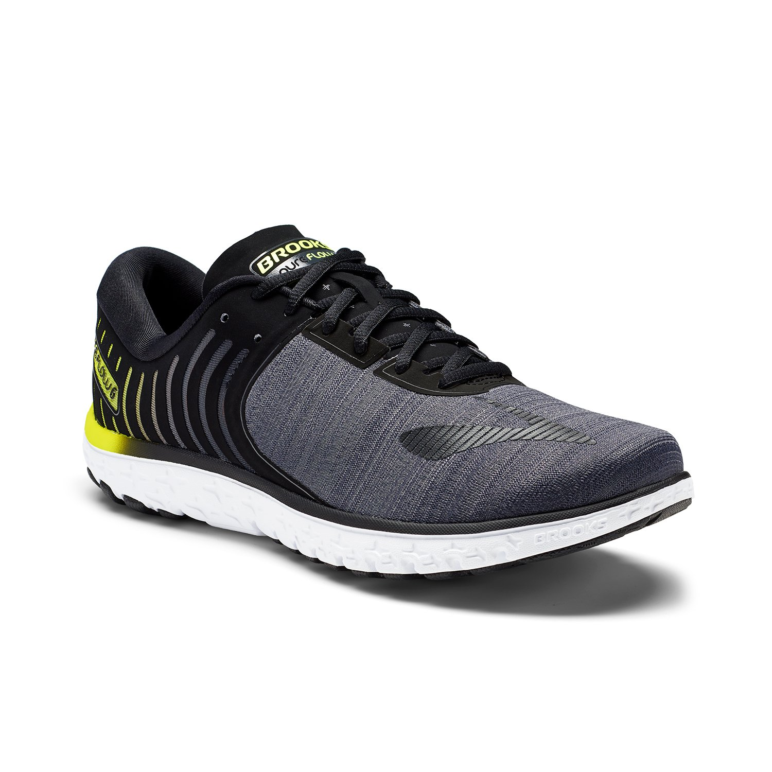 0afe68170a7 Brooks Men s PureFlow 6 Black Ebony Lime Popsicle Athletic Shoe  Buy Online  at Low Prices in India - Amazon.in