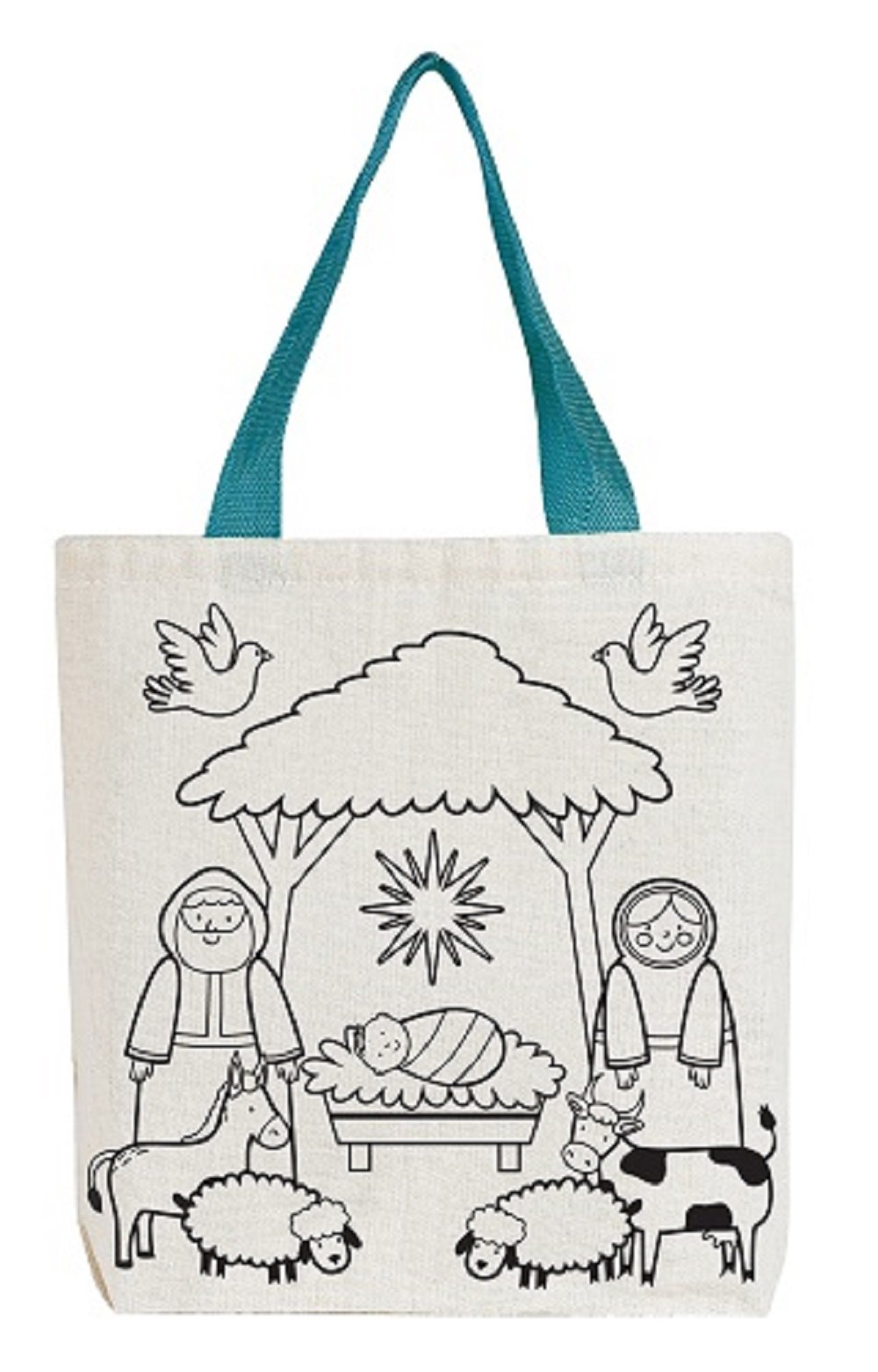Starlight Nativity Color-Your-Own Tote Bag - 12pk