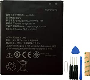 for Lenovo Lemon K3 K30T K3-T Lenovo A6000 & Plus Replacement Battery BL242 with Tools Adhesive