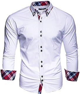 Kayhan Hombre Camisa Manga Larga Slim Fit S-6XL - Modello Twoface + London: Amazon.es: Ropa y accesorios