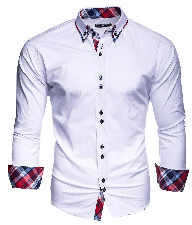 Modello Muster/ärmel Kayhan Originale Uomo Camicia Slim Fit Facile Stiro Cotone Maniche Lungo S M L XL XXL 2XL