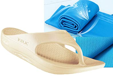 7d2125e203b BOB + TELIC Telic Unisex ArchSupport Flipflops and Bob Sports Towel Shoe