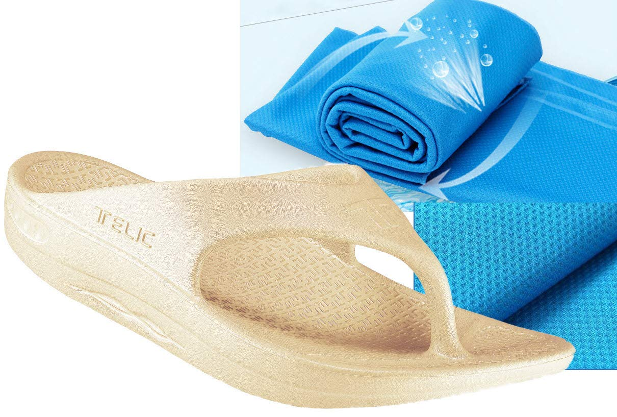 25040812d94e79 Telic Unisex ArchSupport FlipFlops and Bob Sports Towel-Voted Best Comfort  Shoe