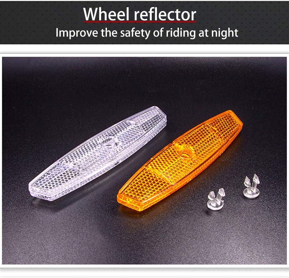 Rot + Wei/ß Wei/ß) SHEEHAN 4PCS Radsport-Reflektor-Kit f/ür Vorder- und R/ückseite 2 St/ück Radreflektoren (Gelb