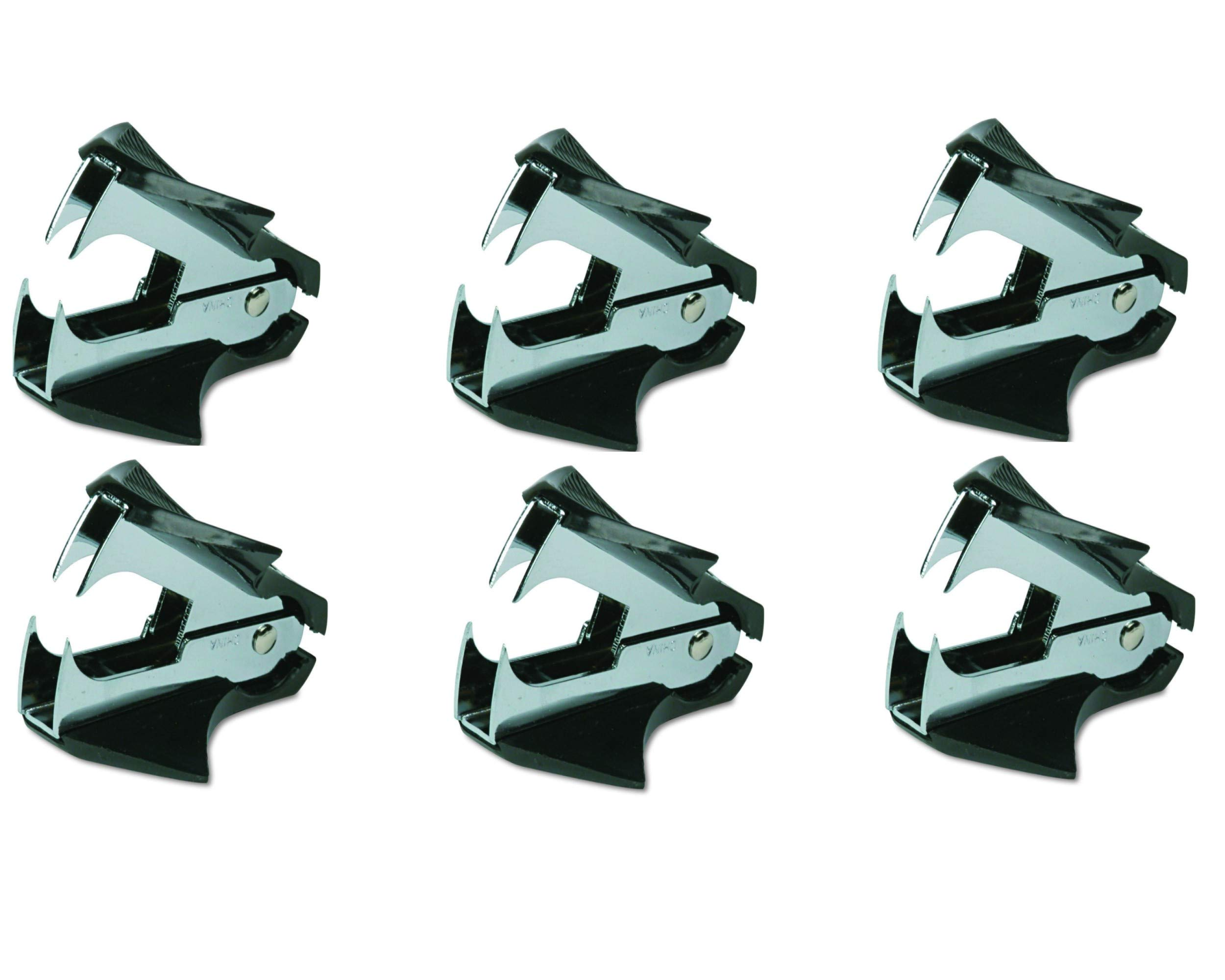 Swingline Staple Remover, Deluxe, Extra Wide, Steel Jaws, Black (38101) - 6 Pack by Swingline
