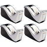 Scotch Desktop Tape Dispenser Silvertech, Two-Tone (C60-St), Black/Silver, 4 Pack