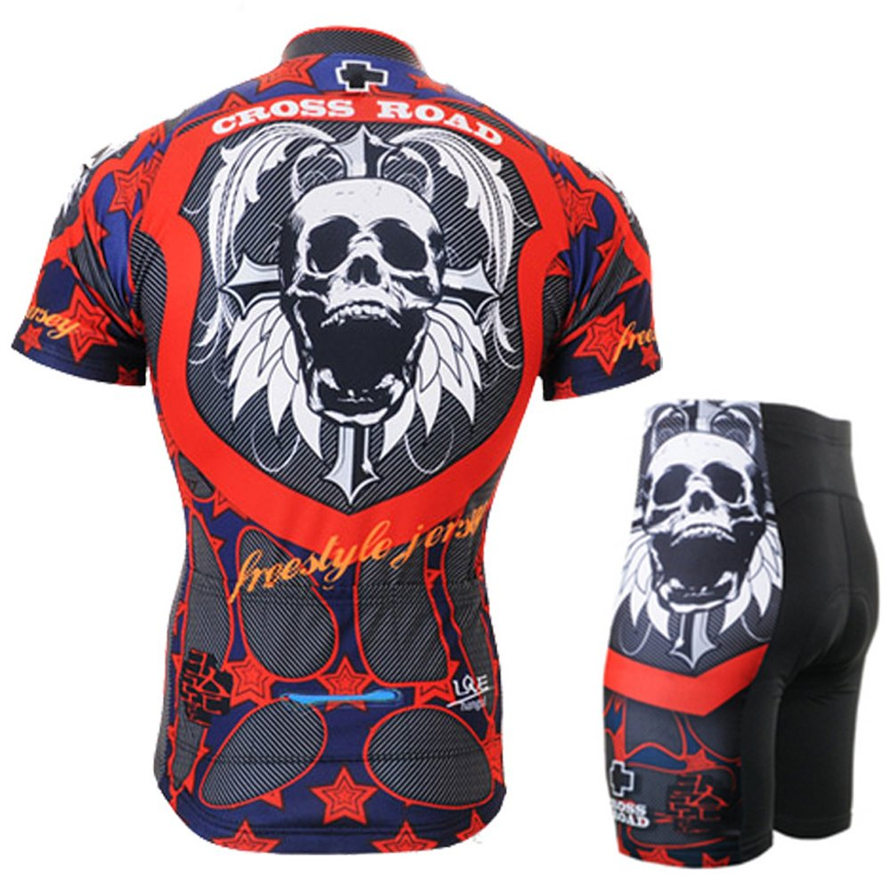 Cycling MTB Motorcycle Workout Dark Sugar Skull Compression Sportwear Short Suit Yours/_t/_64