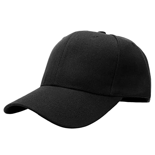 6f1d465ae Classic Plain Curved Bill, Curved Brim Adjustable Back Closure Baseball Cap  Hat Constructed