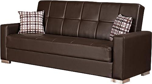 BEYAN Alaska Modern Upholstered Tufted Sleeper Sofa