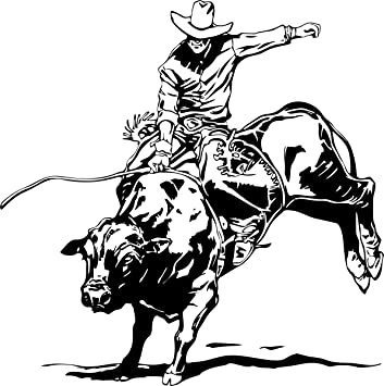 Bull riding decal 5 western rodeo truck window stickers die cut vinyl decal for