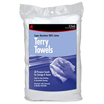 Buffalo Industries (60220) Terry Towels - Bag of 12: Automotive