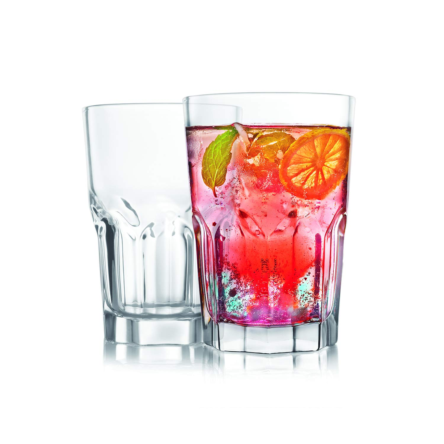 Cello Bello Glass Tumbler Set, 370 Ml, Set Of 2, Transparent